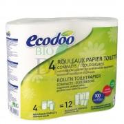 Hartie igienica compacta ECODOO 4-buc