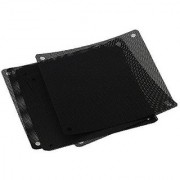 BQLZR 120mm PVC Black PC Cooler Fan Dust Filter Dustproof Case Cover Computer Mesh Pack of 10