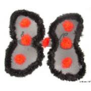 Aripi buburuza 54x48cm negru cu buline rosii - Cod 53403