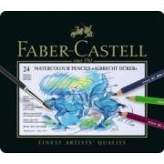 Creioane Colorate Acuarela A.Durer 24 culori cutie metal Faber-Castell