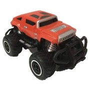 Rechargeable remote controlled Hummer style Truck in Red dusty color for boys