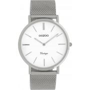 OOZOO Timepieces Horloge Vintage Zilver/Wit C9901