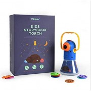 JOCHA Story Projection Torch with Night Light, Kids Sleep Stories, Flashlight Luminous Toy, Animal Slide Show, 8 Fairy Tales Movies 64 Slides Great Educational Handed Toy Gift for Toddler