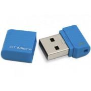 Flash Drive USB 2.0 Kingston DataTraveler Micro USB2.0 8GB Blue DTMC/8GB