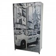 """[neu.holz] Šatní látková skříň """"New York"""" AATS-3401 - 156x87x46 cm"""