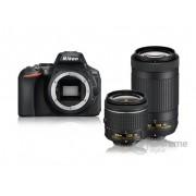 Nikon D5600 DSLR fotoaparat kit (AF-P 18-55mm VR + AF-P 70-300mm VR objektiv)