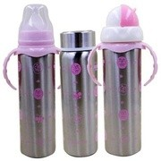 Toys Factory Baby Feeding Bottle Stainless-Steel 180 ml (Pack of 1) pink