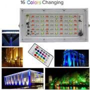 MLD RGB LED Flood Light Multi Color with Remote Waterproof Landscape IP66(NEW55/560I) (50 Watt)