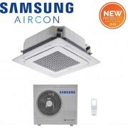 Samsung Climatizzatore Condizionatore Samsung Inverter Mini Cassetta 4 Vie 18000 Btu Ac052mnndkh A++-A+ Con Comando Wireless