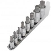 vidaXL 12-Point Bit Set Socket Wrench Set 8 pcs on Strip