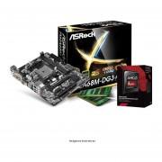 Micro Procesador Amd 3.9 Ghz + Tarjeta Madre Asrock FM2A68M-DG3+ + Memoria Ram 4GB DDR3