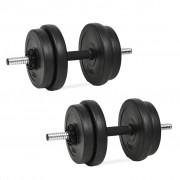 vidaXL Комплект дъмбели, 14 части, 20 кг