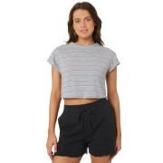 Silent Theory Bite The Bullet Crop Tee Multi Stripe