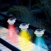 Easymaxx solární světlo na okap s měničem barev, 3 ks