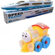 New Pinch Funny Musical Train long small engine with Flashing Lights Bump And Go Action (Multicolor)