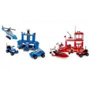 Best Lock Construction Toys 450 Piece Set: Fire & Police Station