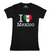 geschenkidee.ch Ländershirt Mexiko, Schwarz, M, Frau