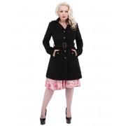 kabát női tavaszi-őszi HEARTS AND ROSES - Black Black Pelyhesítő - 9633 B B