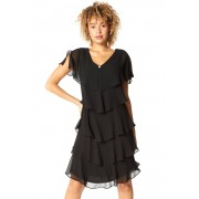 Roman Originals Tiered Chiffon Frill Dress
