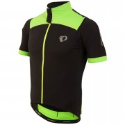 Pearl Izumi Pro Pursuit Wind Short Sleeve Jersey - Black/Screaming Green - M - Black/Green