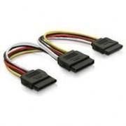 Cablu qoltec Splitter SATA 2xSATA F / 2xF 20cm 27616