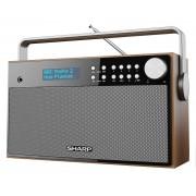 Sharp Radio DR-P355 Brązowy