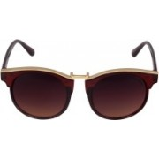 Laurels Over-sized Sunglasses(Red)