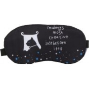 Skylofts Smooth & Soft Fabric Most Creative Sleeping Mask with Cooling Pack Eye Masks for Men & Women Eye Shade(Black)