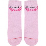 Soxytoes Team Bride Pink Cotton Ankle Length Pack of 1 Pair for Women Casual Socks (STS0109)