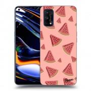 Átlátszó szilikon tok az alábbi mobiltelefonokra Realme 7 Pro - Watermelon
