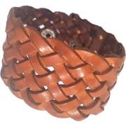 Forever99 Latest Genuine Leather Handmade Woven Braided Bracelet for Men and Women Leather Bracelet for Men Leather