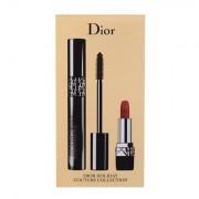 Christian Dior Diorshow Pump´N´Volume tonalità 090 Black Pump confezione regalo mascara 6 g + rossetto Mini Rouge 999 1,5 g donna