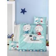 Set lenjerie de pat Victoria, pentru copii, 121VCT2028, Albastru