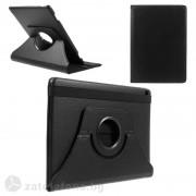 Кожен калъф за Huawei MediaPad M3 Lite 10.1 инча с въртяща поставка - черен