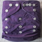 Tinytots Reusable Nappy washable Chemical free leak free Pocket Cloth Diaper with microfiber insert - violet