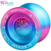YOSTAR Yoyo Professional MAGICYOYO T5 Plus Overlord Unresponsive Yoyo Balls, Special Cool Logo, Stable and Durable, with 5pcs Strings, Carry Bag, Glove (Blue & Pink)