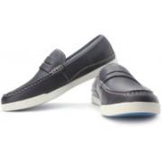 Clarks Nadon Bay Loafers For Men(White, Blue)