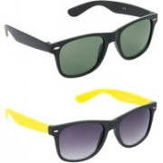 Hrinkar Wayfarer Sunglasses(Green)