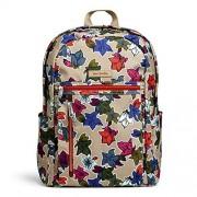 Vera Bradley Women's Lighten Up Small Backpack, Falling Flowers Neutral