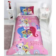 Lenjerie de pat copii Love Princess fundal crem