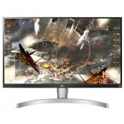 "Monitor Gaming IPS LED LG 27"" 27UK650-W, Ultra HD (3840 x 2160), HDMI, DisplayPort, Pivot, 5 ms (Alb/Argintiu)"