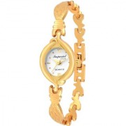 Imperial Club Face Lock Gold Desire Analog White Dial Women's Watch (wtw-012