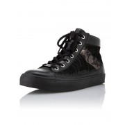 Caprice Leder-Sneaker in Patchwork-Optik 39 schwarz female Größe 37