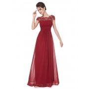 Vínově červené krajkové šaty