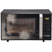 Lg Mc2846Bct 28 Litre Convection Black Flower Pattern