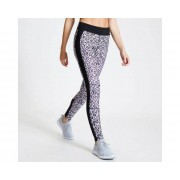 Women's Curvate Leggings White Zoological Print Black