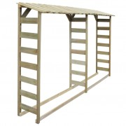 vidaXL Șopron dublu pentru lemne, lemn de pin tratat, 300x44x176 cm