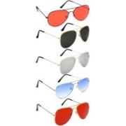 David Martin Aviator Sunglasses(Red, Black, Silver, Blue)