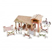 Figurina Papo - Set Poney club-boxa carton+4 figurine