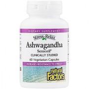 Natural Factors - Stress-Relax Ashwagandha Sensoril 60 Vegetarian Capsules